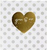 Goldbuch you & me forever 30x31 60 weiße Seiten Hochzeit 27051
