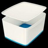 Leitz MyBox A4 Groß + Deckel weiß/blau