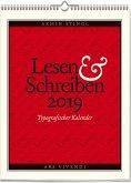 Lesen & Schreiben - Typografischer Kalender 2019