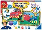 Ravensburger 27772 - Feuermann Feuerwehrmann Sam, Malen nach Zahlen Junior, MNZ