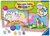 Ravensburger 27773 - Süße Ponys, Malen nach Zahlen Junior