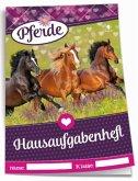 Color-Hausaufgabenheft Pferde mit Umschlag