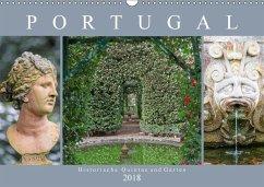 Portugal - Historische Quintas und Gärten (Wandkalender 2018 DIN A3 quer)