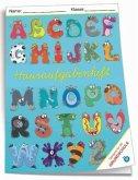 Hausaufgabenheft - Grundschule Monster-ABC mit Umschlag