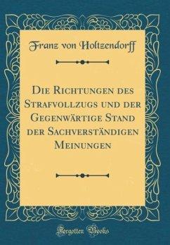 Die Richtungen des Strafvollzugs und der Gegenwärtige Stand der Sachverständigen Meinungen (Classic Reprint)