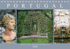 Portugal - Historische Quintas und Gärten (Tischkalender 2018 DIN A5 quer)