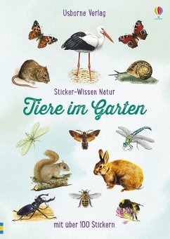 Sticker-Wissen Natur: Tiere im Garten - Clarke, Phillip
