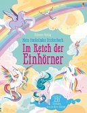 Mein funkelndes Stickerbuch: Im Reich der Einhörner