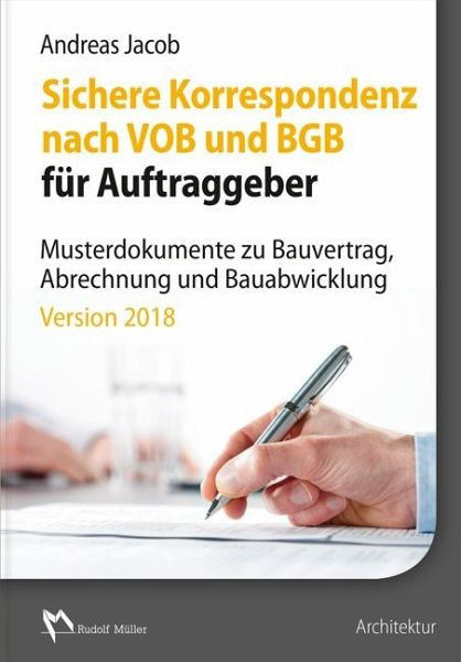 Sichere Korrespondenz Nach Vob Und Bgb Für Auftraggeber 1 Cd Rom