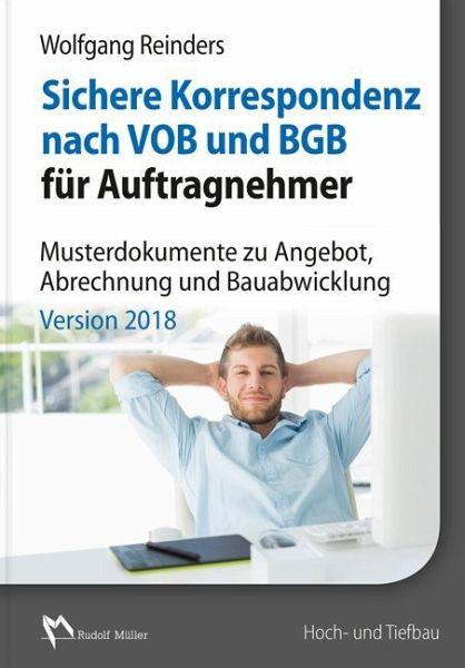 Sichere Korrespondenz Nach Vob Und Bgb Für Auftragnehmer 1 Cd Rom