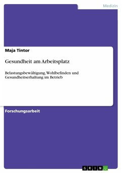 Gesundheit am Arbeitsplatz (eBook, ePUB)