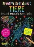 Tiere: Set mit 10 Kratzbildern, Anleitungsbuch und Holzstift / Kreative Kratzkunst Bd.8