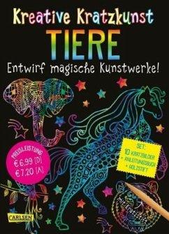 Tiere: Set mit 10 Kratzbildern, Anleitungsbuch und Holzstift / Kreative Kratzkunst Bd.8 - Poitier, Anton