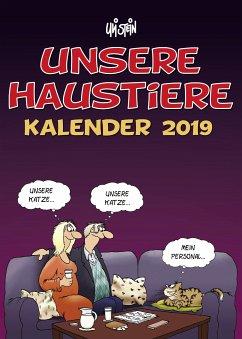 Uli Stein Unsere Haustiere - Wandkalender 2019