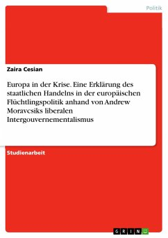 Europa in der Krise. Eine Erklärung des staatlichen Handelns in der europäischen Flüchtlingspolitik anhand von Andrew Moravcsiks liberalen Intergouvernementalismus