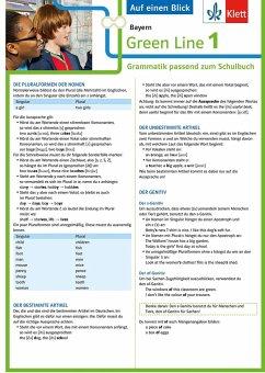Green Line 1 Bayern Klasse 5 - Auf einen Blick. Grammatik passend zum Schulbuch - Klappkarte (6 Seiten)