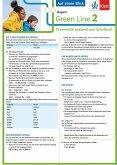 Green Line 2 Bayern Klasse 6 - Auf einen Blick. Grammatik passend zum Schulbuch - Klappkarte (6 Seiten)