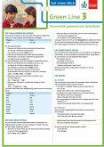 Green Line 3. Auf einen Blick. G8. Klasse 7. Grammatik passend zum Schulbuch - Klappkarte (6 Seiten)
