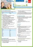 Green Line 4. Auf einen Blick. G8. Klasse 8. Grammatik passend zum Schulbuch - Klappkarte (6 Seiten)