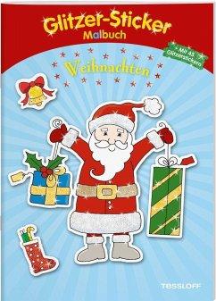 Glitzer-Sticker Malbuch Weihnachten (Mängelexemplar)