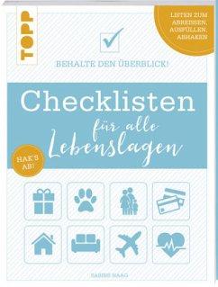 Checklisten für alle Lebenslagen - Haag, Sabine