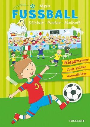 Mein Fußball Sticker Poster Malheft Mängelexemplar Portofrei