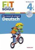 Das musst du wissen! Deutsch 4. Klasse (Mängelexemplar)
