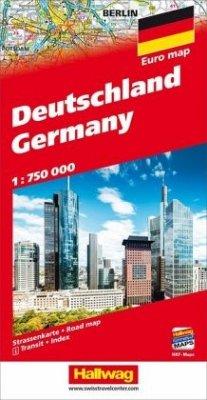 Deutschland Straßenkarte 1:750 000