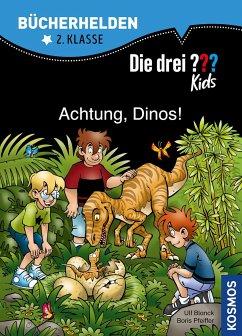 Die drei ??? Kids, Bücherhelden, Achtung, Dinos! (drei Fragezeichen) - Pfeiffer, Boris; Blanck, Ulf