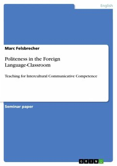 Politeness in the Foreign Language-Classroom (eBook, ePUB)