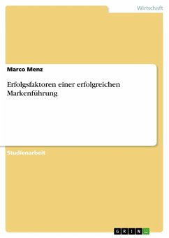 Erfolgsfaktoren einer erfolgreichen Markenführung (eBook, ePUB)