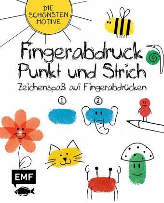 Fingerabdruck Punkt Und Strich Zeichenspass Auf Fingerabdrucken