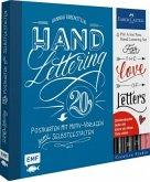 Handlettering Postkarten Set mit 4 original Faber-Castell Pitt Artist Pens