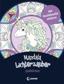 Mandala-Lichterzauber - Einhörner