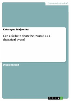 Can a fashion show be treated as a theatrical event? (eBook, ePUB)
