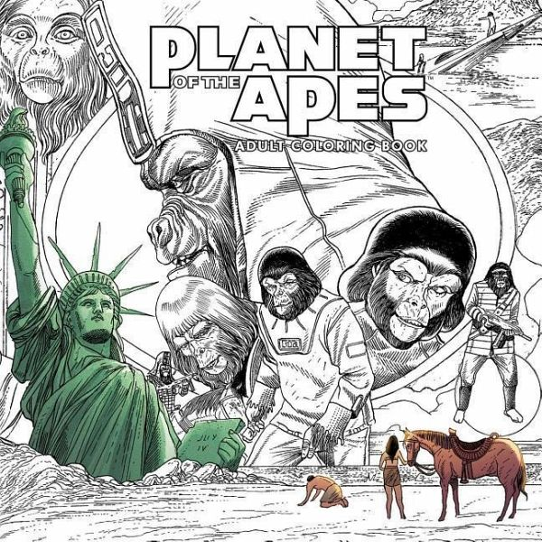Planet of the Apes Adult Coloring Book - englisches Buch - bücher.de