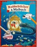 Käpt'n Sharky: Rubbelsticker & Malbuch