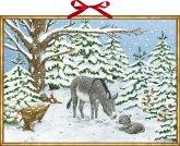 Wandkalender - Weihnachtsesel