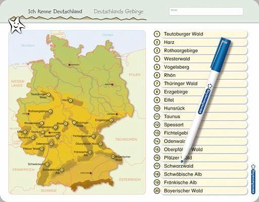 gebirge in deutschland karte Ich kenne Deutschland   Deutschlands Gebirge von Katrin Langhans  gebirge in deutschland karte