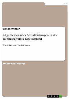 Allgemeines über Sozialleistungen in der Bundesrepublik Deutschland (eBook, PDF)