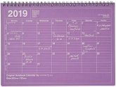 MARK'S 2019 Tischkalender M // Purple