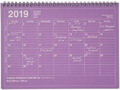 MARK'S Tischkalender M Purple 2019