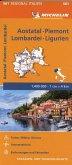 Michelin Karte Aostatal, Piemont, Lombardei und Ligurien