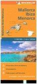 Michelin Karte Balearen (Mallorca, Ibiza, Menorca)
