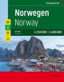 Norwegen, Autoatlas 1:250.000 - 1:400.000