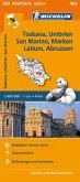 Michelin Karte Toskana, Umbrien, San Marino, Marken, Latium, Abruzzen