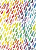 Watercolors 2019 Taschenkalender 16x22