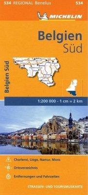 Michelin Karte Belgien Süd