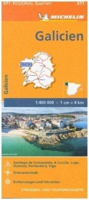 Michelin Karte Galicien