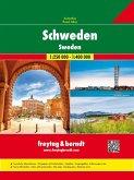 Freytag & Berndt Autoatlas Schweden, 1:250.000/1:400.000; Road Atlas Sweden